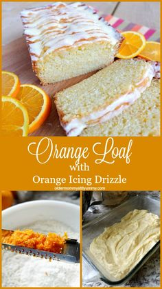 Orange Loaf with Orange Icing Drizzle ~ This turned out extremely well and I actually prefer it to the traditional lemon. I love the drizzle too. It was really orangy and added a nice tang Köstliche Desserts, Delicious Desserts, Dessert Recipes, Health Desserts, Lemon Bread, Lemon Loaf, Loaf Cake, Pie Cake, Dessert Bread