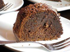 Whiskey-Soaked Dark Chocolate Bundt Cake