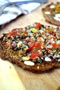 #Quinoa flatbread