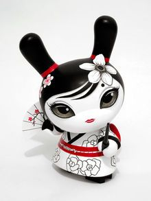 Otto Bjornik's Hitomi, 8-inch custom Dunny make your own--customizable kidrobot munny toys available at www.lazydazeco.com!