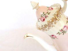 Royal Albert Coffee Pot Bridemaid Roses England by twocheekychicks on Etsy, $139.00