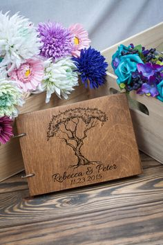 Wedding Guestbook Guest Book Wedding Date and names от woodlack Wood Guest Book, Rustic Wedding Guest Book, Wedding Book, Wedding Ideas, Damask Wedding, Wedding Garter, Unity Candle, Candles, Toasting Flutes