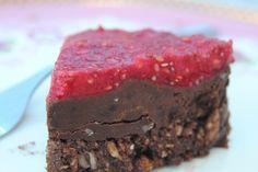 Raw, Chokladcheesecake med hallontopping - Passion för Choklad