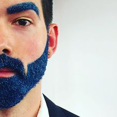 Glitter beards are in for the holidays!