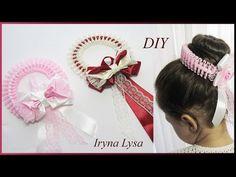 МК: Прикраса для волосся (на гульку) з бусинами, мереживом і бантом/Резинка на…