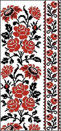 Beaded Cross Stitch, Cross Stitch Rose, Cross Stitch Borders, Cross Stitch Designs, Cross Stitch Embroidery, Hand Embroidery, Cross Stitch Patterns, Palestinian Embroidery, Embroidery Patterns Free