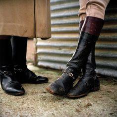 These boots are spectacular.    Boot detail, Warwickshire hunt, 2004  Derek Hudson