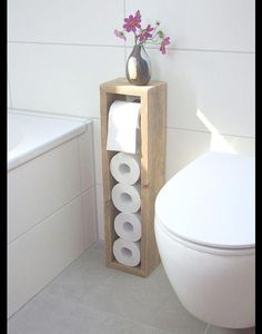 Toilettenpapierhalter, Klopapierhalter – Klopapierhalter – Badezimmer – Mit Lieb… Toilet Paper Holder, Toilet Paper Holder – Toilet Paper Holder – Bathroom – Handmade with Love in Hatten, Germany by Klaus Heilmann Toilet Paper Stand, Diy Toilet Paper Holder, Toilet Brush, Toilet Paper Storage, Toilet Roll Holder Storage, Toilet Paper Dispenser, Diy Casa, Geometric Decor, Diy Home Decor On A Budget