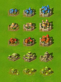 New Battles - Terrain And Towns by Yusuf Artun, via Behance