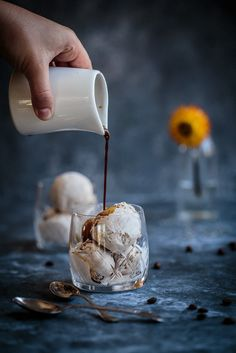 Spiced ice cream affogato - affogato speziato alla panna - affogato affogato recipe - OPSD blog - food styling - food photography - guest post - Anisa Sabet - The Macadames
