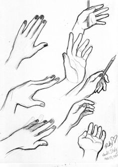 hands ✤ || CHARACTER DESIGN REFERENCES | キャラクターデザイン • Find more at…