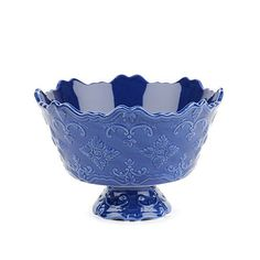 Blue Sweet Olive Serving Bowl