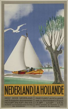 Absolutely beautiful old vintage advertising poster for The Hague Netherlands Railway Fresh colors. Artist is Machiel Wilmink Lithographer: N. Vintage Advertising Posters, Vintage Travel Posters, Vintage Advertisements, Vintage Ads, The Hague Netherlands, Amsterdam Photography, La Haye, Retro Poster, Oh The Places You'll Go