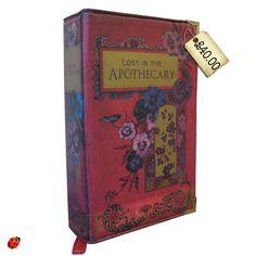 vintage book as bag
