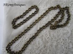 Old chain necklace and bracelet