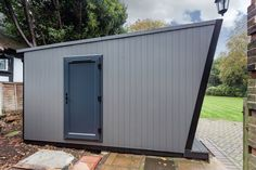 For the perfect office setting, what is better than one of our garden rooms? The team created this stunning garden office to the clients' exact preferences. Garden Office, Workshop, Shed, Container, Outdoor Structures, Gallery, Outdoor Decor, Green, House