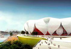 Hangzhou Olympic Sports Center  by nbbj  in Hangzhou, China