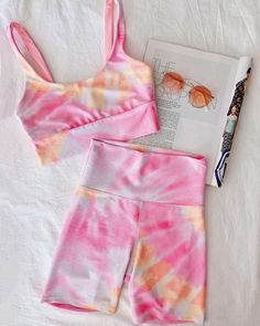 Cute Swag Outfits, Crop Top Outfits, Cute Outfits For Kids, Girly Outfits, Outfits For Teens, Stylish Outfits, Girls Fashion Clothes, Teen Fashion Outfits, Tie Dye Outfits