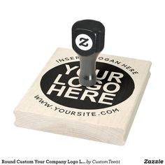 Round Custom Your Company Logo Large Stamp Custom Self Inking Stamps, Custom Rubber Stamps, Wood Stamp, Foam Cushions, Wooden Handles, Business Logo, Custom Logos, Business Supplies, Wood Art