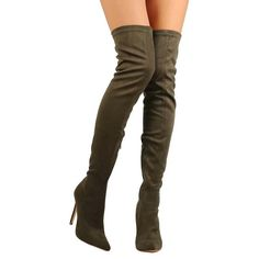 """""""Anilai"""" Faux Suede High Heel Thigh High Boots"""