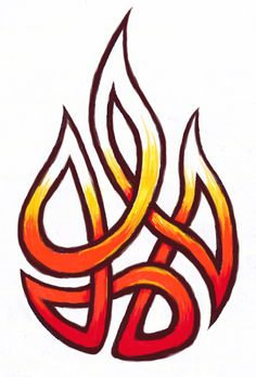 Hey, what about the Trinity knot like this? Fire within me, God within me