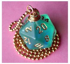 Dungeons and Dragons  D20 Die Pendant