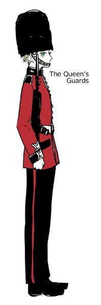 アオハラ - Hetalia - England (Arthur Kirkland) oh iggy you cute little British guard!