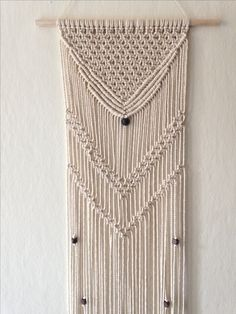 Macrame wall hanging / Handmade / Gift / Home Decor / Modern design / Size: Height 40.1 Inches X Width 9.8 Inches