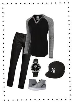 """""""Untitled #76"""" by cedi2 ❤ liked on Polyvore featuring MasterCraft Union, LE3NO, Vans, New Era, Patek Philippe, men's fashion and menswear"""