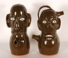 Mr. and Mrs. Monkey Jug, Joe Reinhardt, potter.