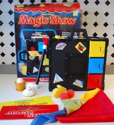 Magic Show - a boy in 2nd grade did this for the class talent show.  We thought it was SO cool!  =) Little did I know it was Fisher Price.