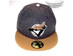 Custom Toronto Blue Jays Grey-Beige 59Fifty Fitted Baseball Cap by NEW ERA x MLB