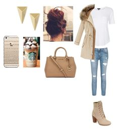"""""""Untitled #77"""" by burusa2 ❤ liked on Polyvore featuring beauty, Timberland, Topshop, Current/Elliott, Michael Kors, Alexis Bittar and Casetify"""