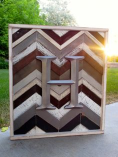 Reclaimed Chevron Wall Hanging Piece