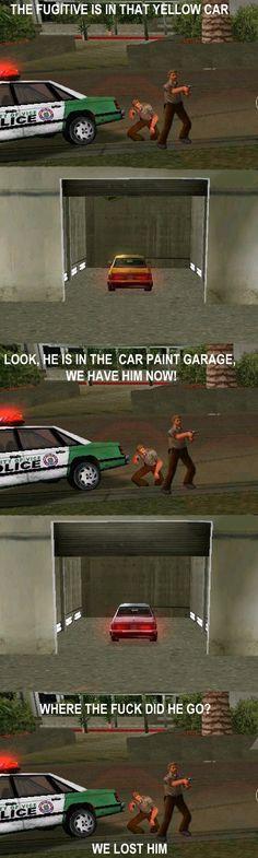 Tipico de GTA...