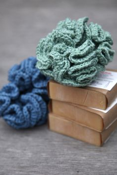 Crocheted bath puffs/kitchen scrubbies paired with a nice bar of soap make great gifts.