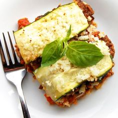 Eggplant and Zucchini Lasagna- this is my favorite lasagna recipe! It is low-carb and so good. Makes great leftovers too.