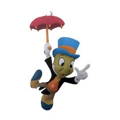 2015 Jiminy Cricket Disney Hallmark Keepsake Ornament - Hooked on Hallmark Ornaments