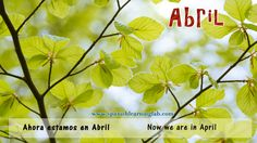 Abril es un mes hermoso. In some countries it is the beginning of spring (la primavera). Hope you have a good day!