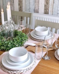 Scandi tablescape with ikea hack centrepiece White Table Settings, Cookies Policy, Ikea Hack, Christmas Inspiration, House Rooms, Christmas Home, Tablescapes, Improve Yourself, Sweet Home