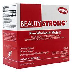 BeautyFit BeautyStrong Pre-Workout Matrix Energy Focus Strength