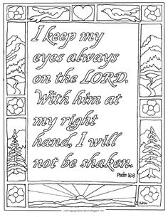 Psalm 168 Printable Coloring Page This Is Perfect For Children