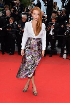 Fabulously Spotted: Riley Keough Wearing Valentino - 'Foxcatcher' 2014 Cannes Film Festival Premiere