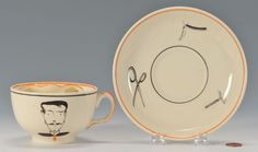Susie Cooper Left Handled Moustache Cup: Lot 373. This lot was sold for $50 at our May 18, 2013 auction.