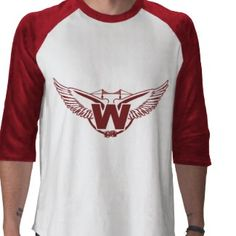 Wings concept logo for fictional hockey team Hockey Apparel, Wings Logo, Hockey Teams, Design Inspiration, Concept, Tees, Long Sleeve, Sleeves, Mens Tops