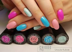 Kolorowe, proste cukiereczki🍬🍭🍡 ChiodoPRO ♡Strong Base ♡Master Clear ♡Top New Generation Nailart, Manicure, Nail Polish, Strong, Base, Top, Inspiration, Beauty, Nail Bar