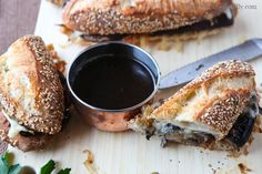 Vegetarian Portobello French Dip Recipe from Cafe Flora
