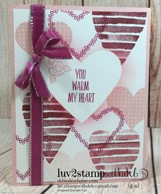 Heart Happiness Valentines Day card Debie Deschaine, Independent Stampin' Up! Demonstrator
