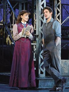 Dan Deluca and Stephanie Styles in the touring production of Disney's Newsies.