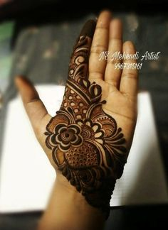 "Photo from NS Mehendi Artist ""Portfolio"" album Henna Art Designs, Mehndi Designs For Girls, Indian Mehndi Designs, Stylish Mehndi Designs, Mehndi Designs For Fingers, Wedding Mehndi Designs, Latest Mehndi Designs, Palm Mehndi Design, Mehndi Design Pictures"